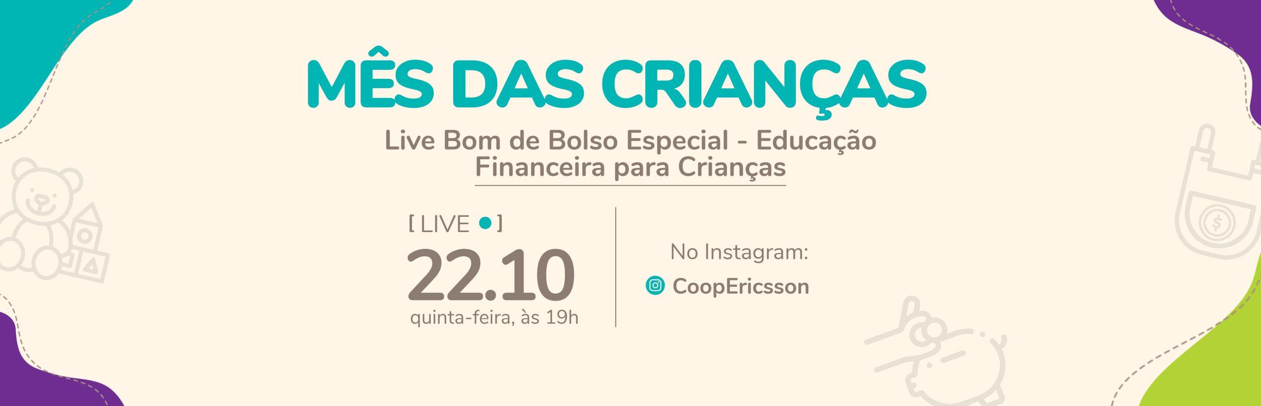 Live Especial: educação financeira para crianças