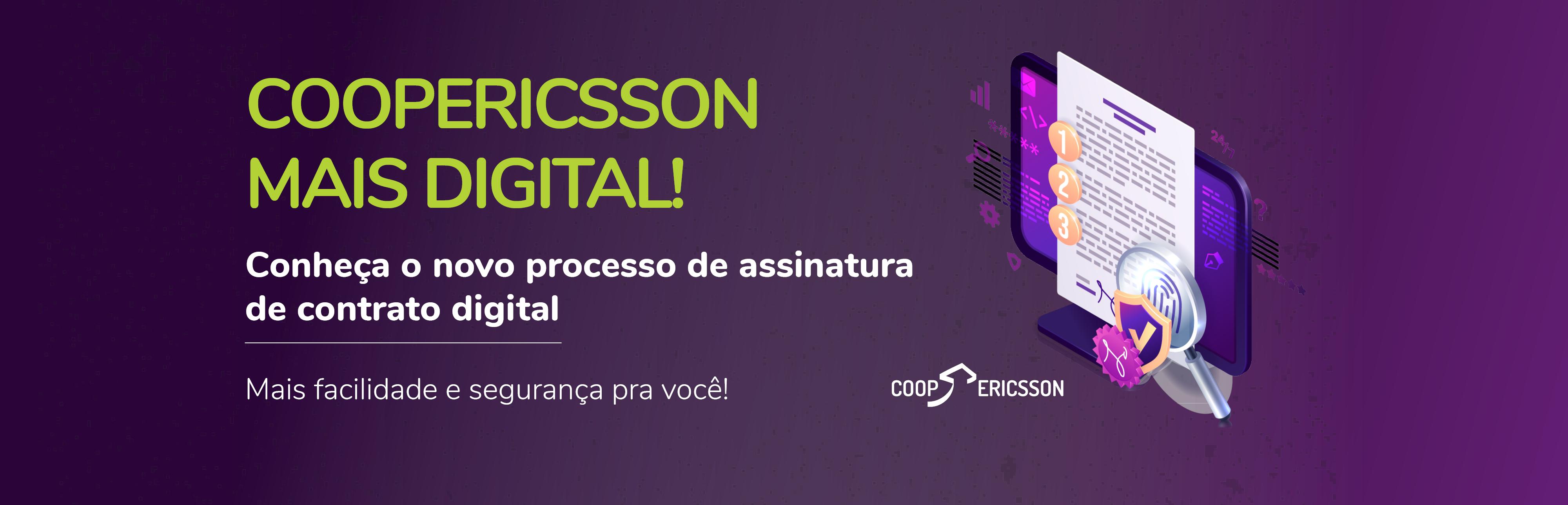 CoopEricsson adere a assinatura digital de contratos