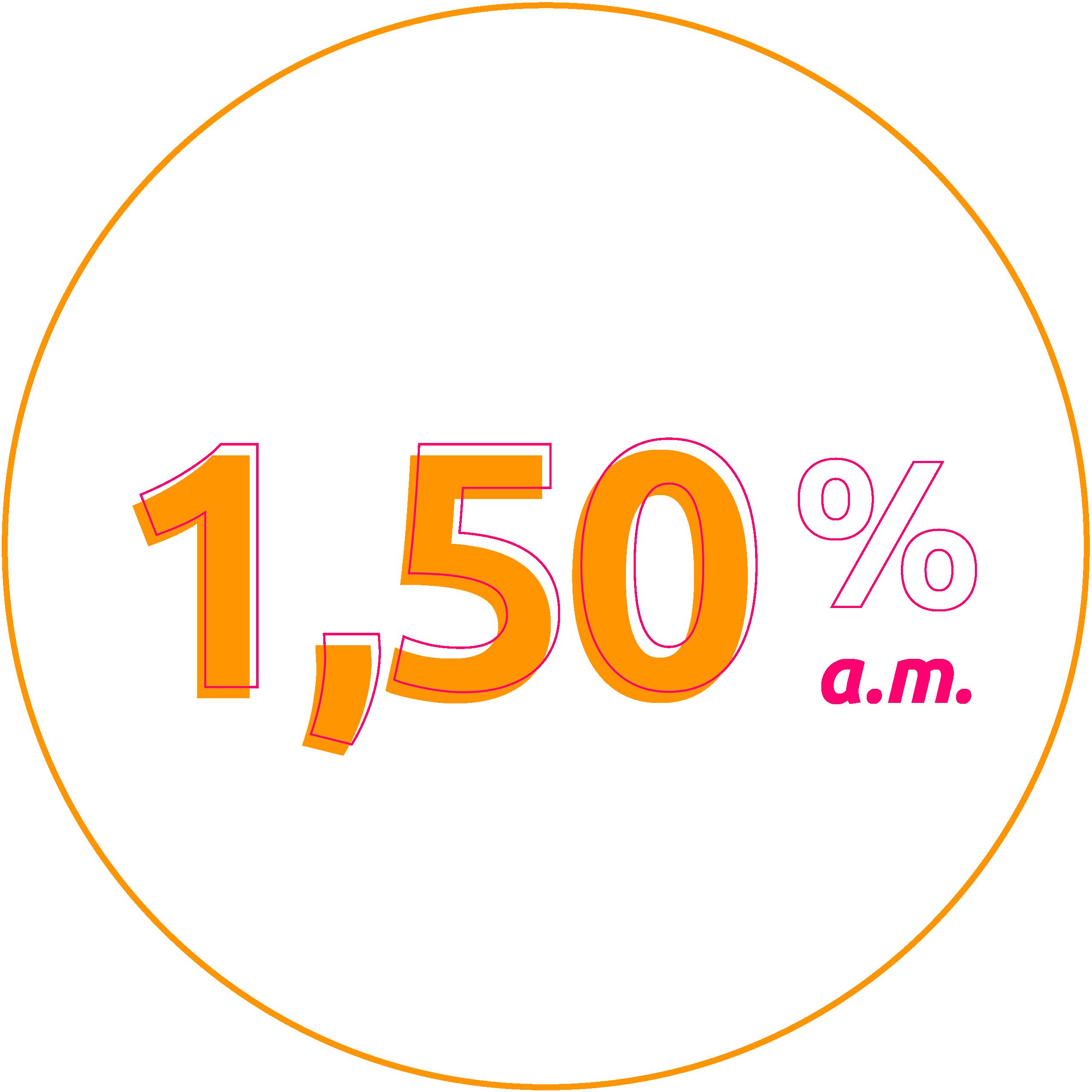 Taxa de 1,20% ao mês
